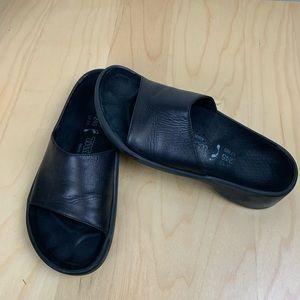 Tatami by Birkenstock Sz 38 Black Sandal Slides.